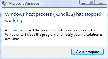 "How to fix ""rundll32 has stopped working"" error"