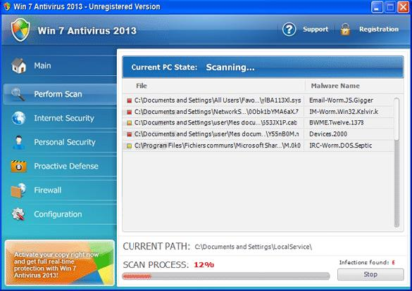 win 7 antivirus 2013 gui