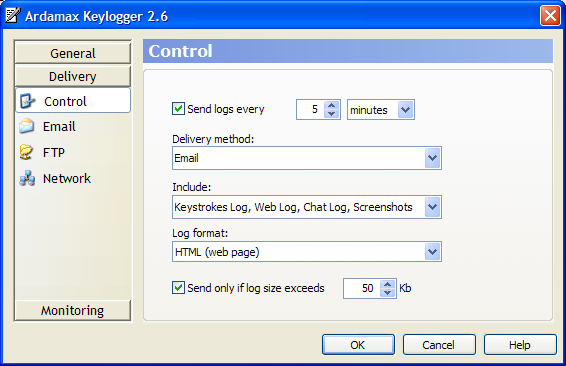 revealer keylogger how to open