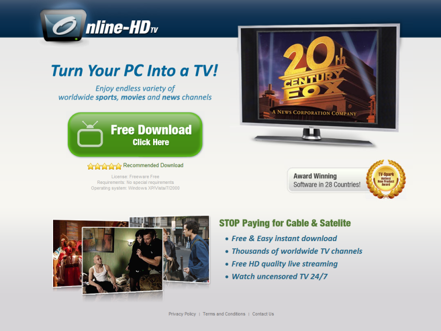 online hd tv website