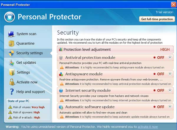 personal protector 2013