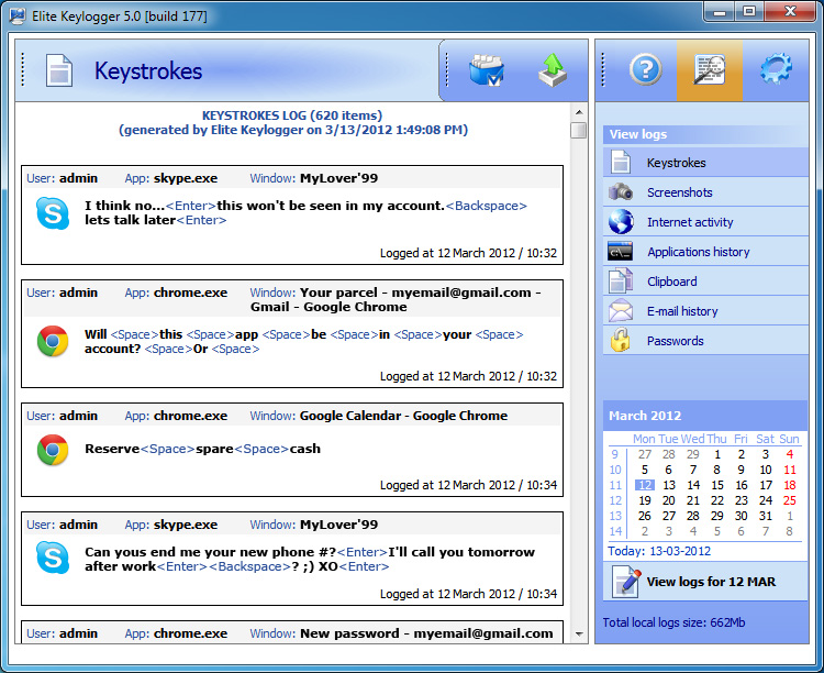 widestep elite keylogger