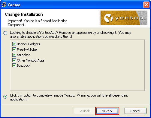 How to remove Yontoo Layers Client