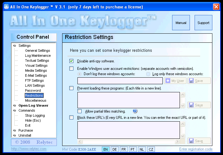 remove All In One Keylogger