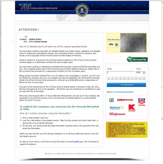 remove Federal Bureau Investigation virus from your computer