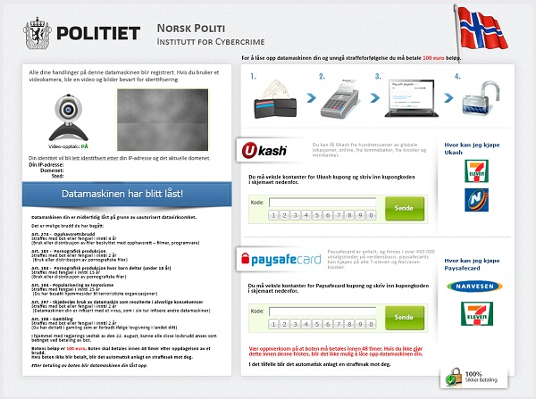 remove Norsk Politi Institutt For Cybercrime Virus as soon as possible