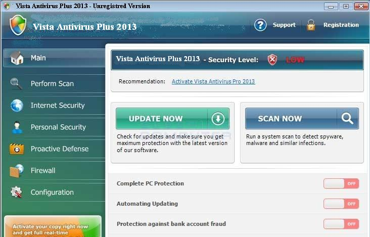 remove Vista Antivirus Plus 2013