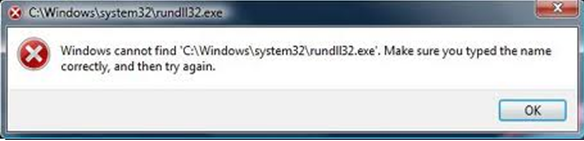 "How to fix ""Windows cannot find rundll32.exe"" error"
