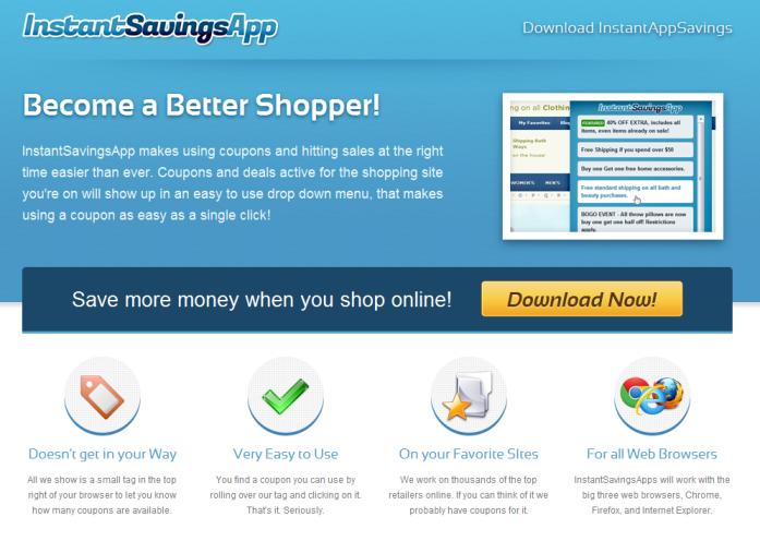 instant savings app adware