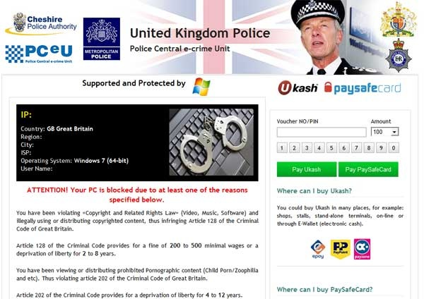 United Kingdom Police Block Virus