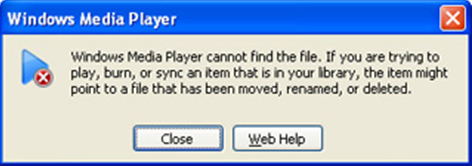 "How to fix ""Windows media player cannot find the file"" error"