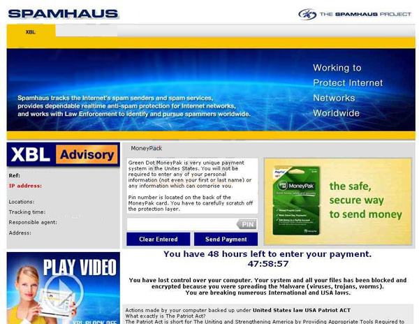 spamhaus block virus