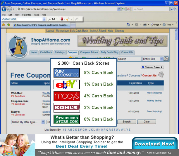 Shop At Home toolbar removal instructions