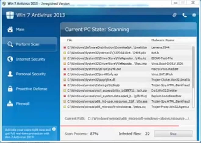 win 7 antivirus 2013