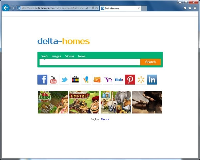 remove Delta Homes Search