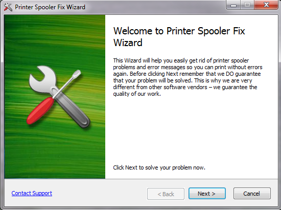 Restart print spooler and solve the problem