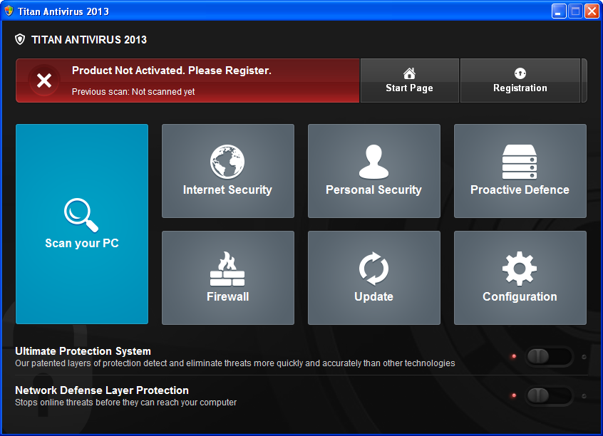 remove Titan Antivirus 2013 from your computer