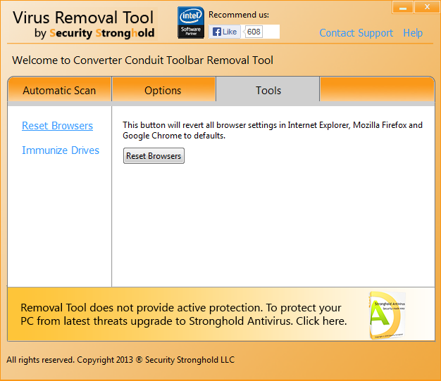 remove Converter Conduit Toolbar with the help of the removal tool