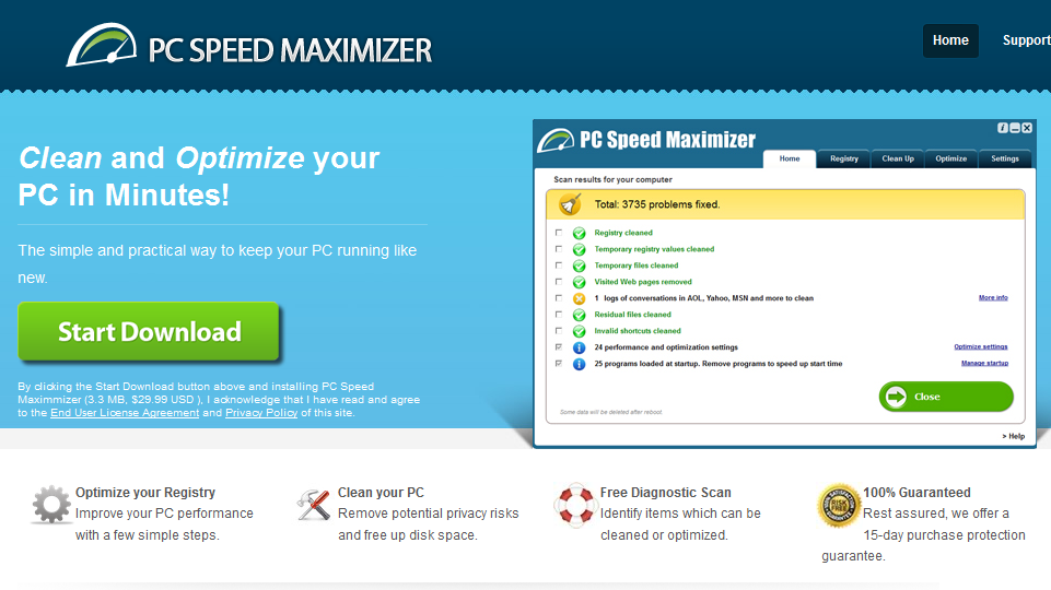 remove PC Speed Maximizer