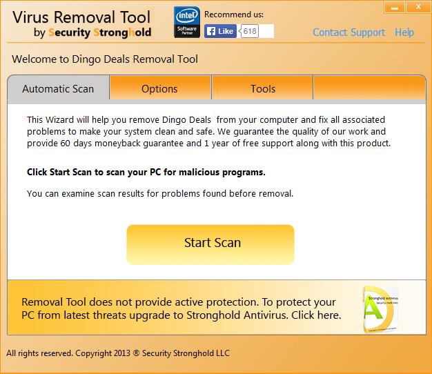 remove Dingo Deals with Dingo Deals Removal Tool