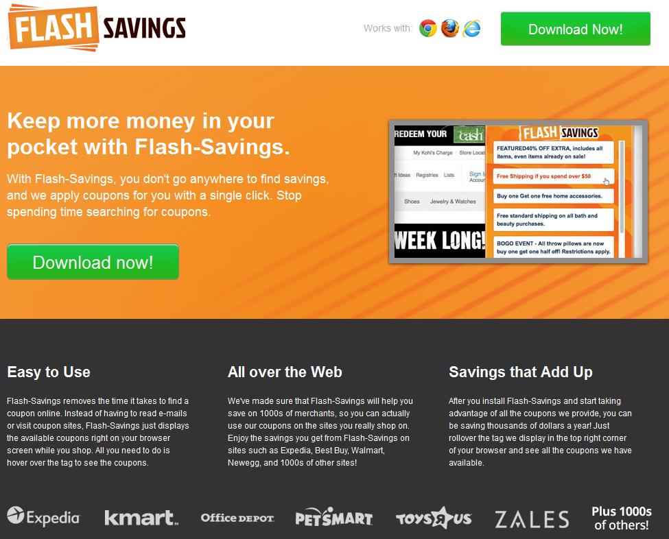 remove Flash Savings