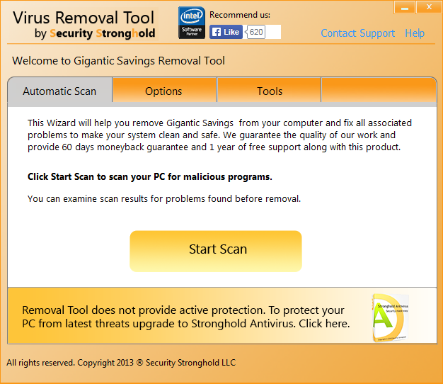 remove Gigantic Savings with Gigantic Savings Removal Tool