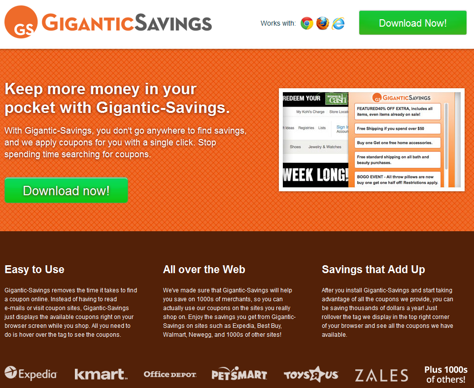 remove Gigantic Savings