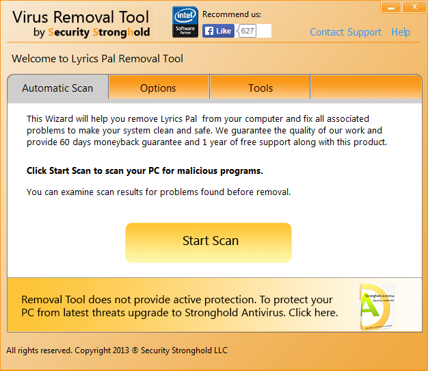 remove LyricsPal with LyricsPal Removal Tool