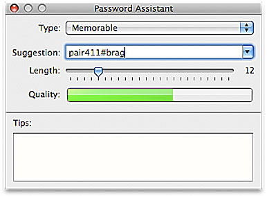 remove Password Assistant