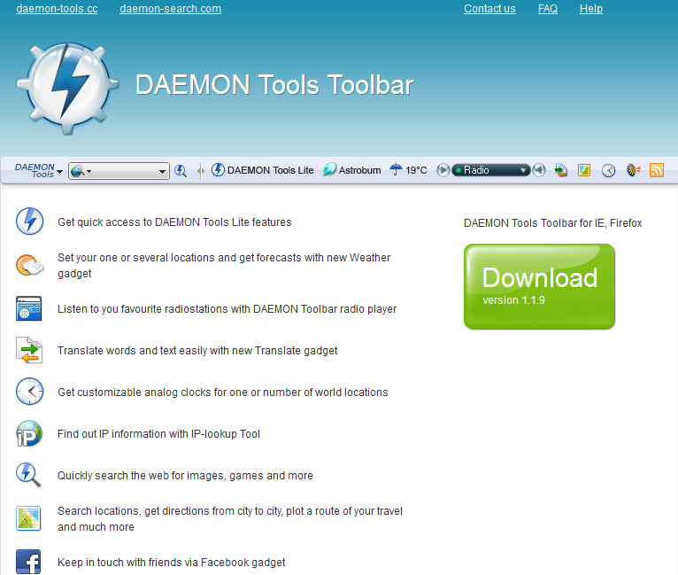 remove Daemon Tools Toolbar