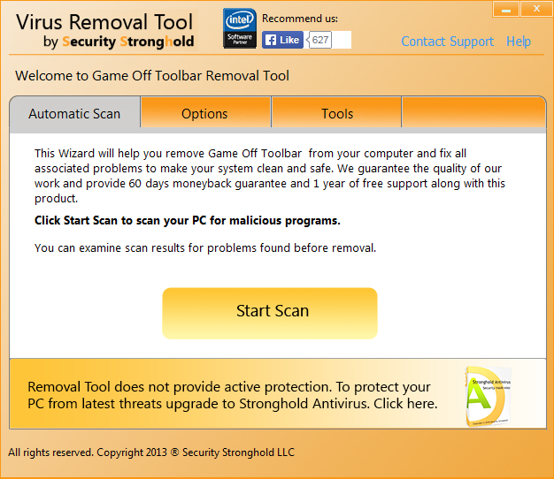 remove GameOff Toolbar with GameOff Toolbar Removal Tool