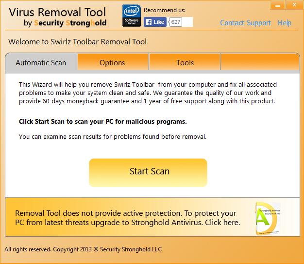 remove Swirlz Toolbar with Swirlz Toolbar Removal Tool