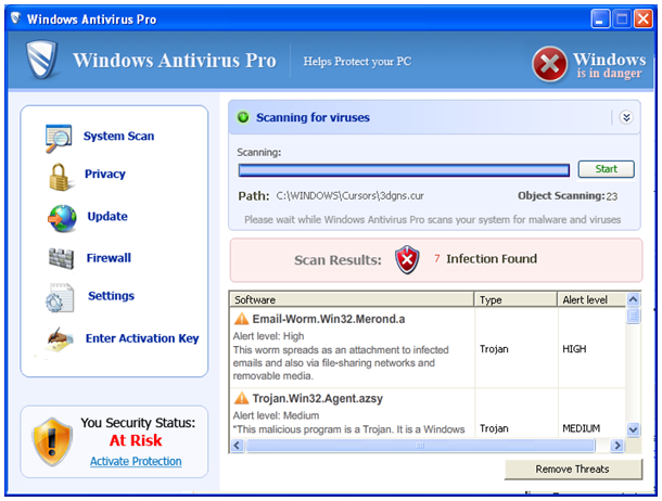 remove Windows Antivirus Tool