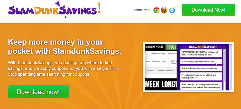 remove SlamdunkSavings