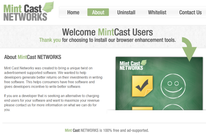 remove MintCastNetworks