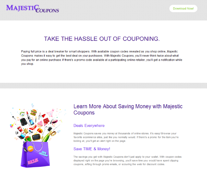 remove Majestic Coupons