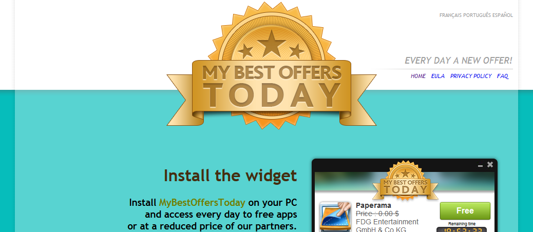 You can remove MyBestOffersToday from your computer