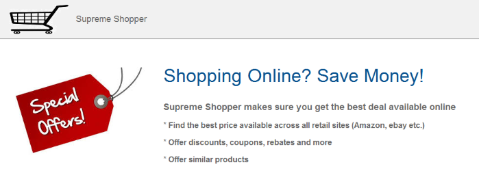 You can remove Supreme Shopper from your computer