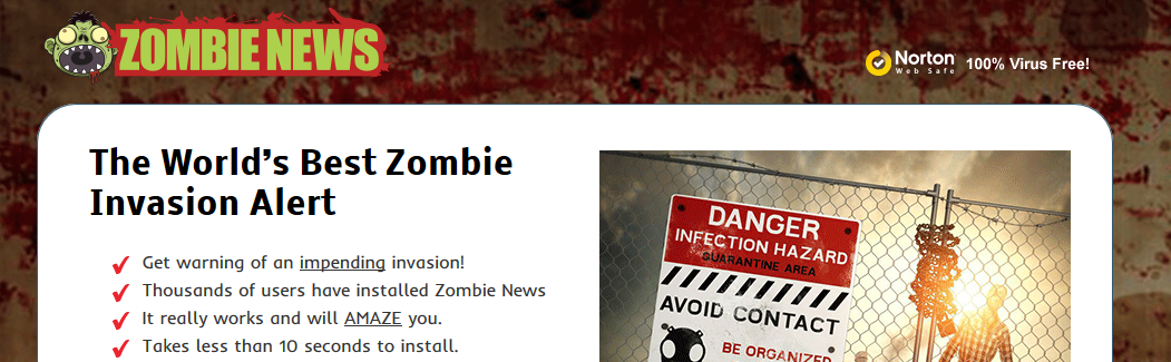You can remove ZombieNews from your computer
