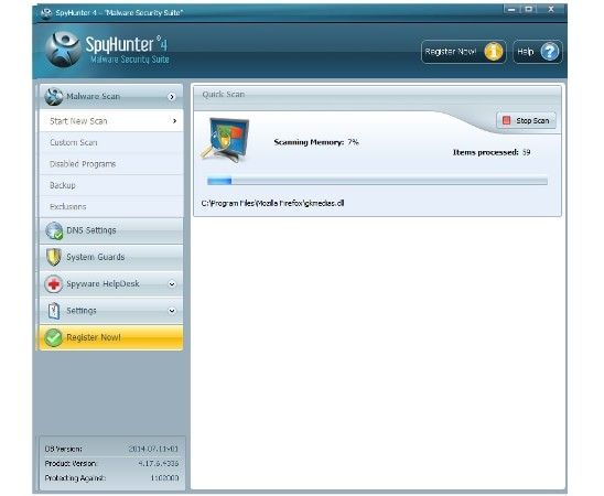 Remove Savings Downloader: wait for Spyhunter to finish the scan