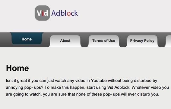 remove Vid Adblock