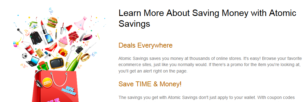 You can remove Atomic Savings from your computer