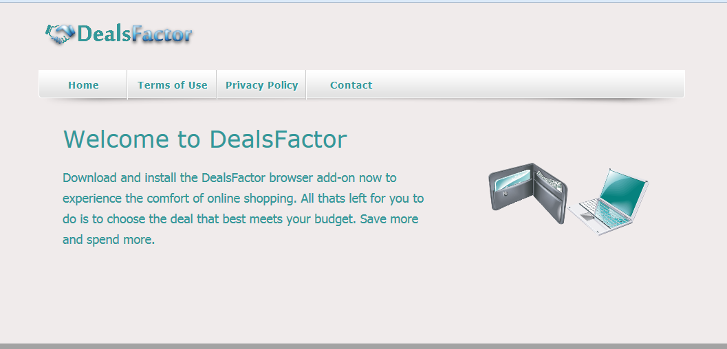 You can remove DealsFactor from your computer