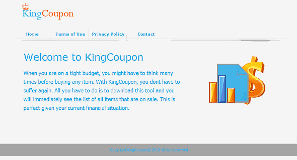 You can remove KingCoupon from your computer