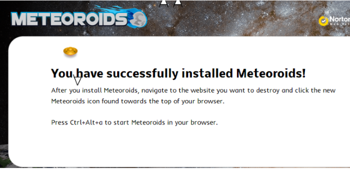 You can remove Meteoroids from your computer