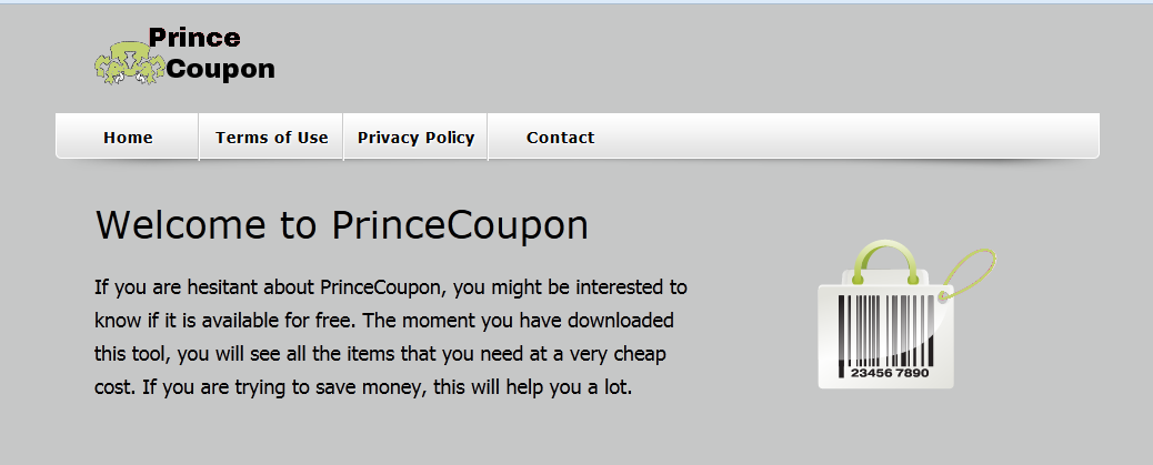 You can remove PrinceCoupon from your computer