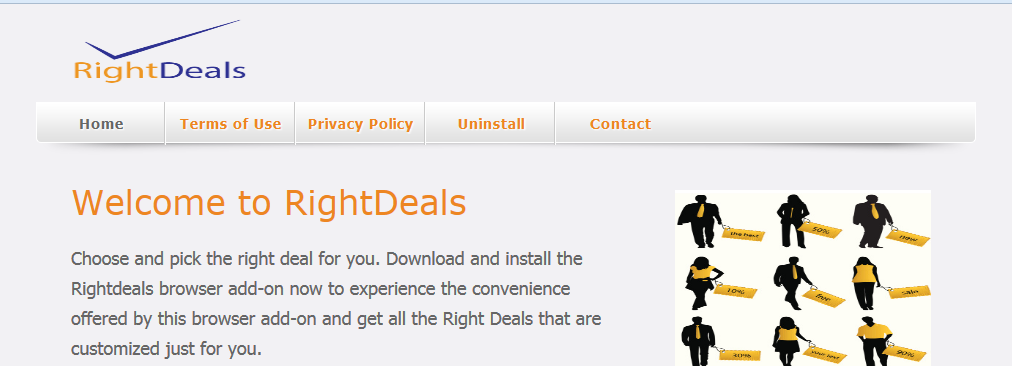 You can remove RightDeals from your computer
