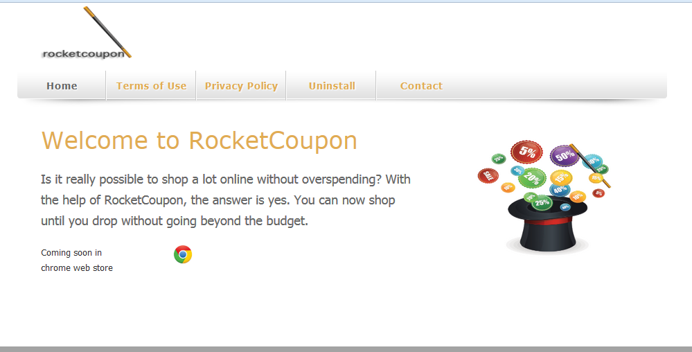 You can remove RocketCoupon from your computer