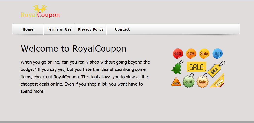 You can remove RoyalCoupon from your computer