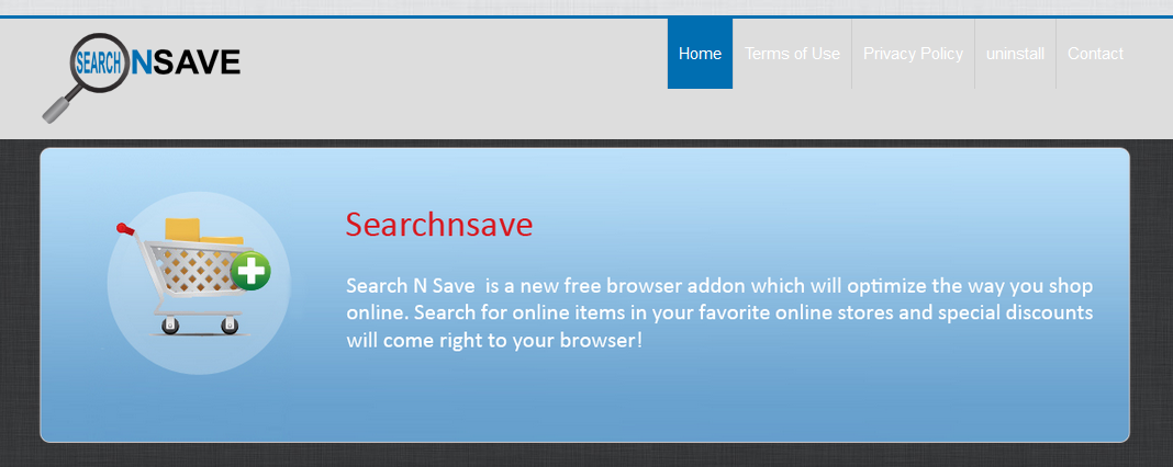 You can remove SearchNSave from your computer